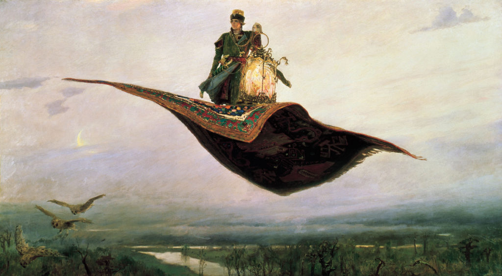 """The Flying Carpet"" (Ivan Tsarevich) by Viktor Mikhailovich Vasnetsov (1880)"