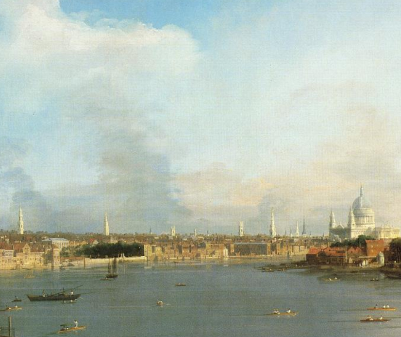 "Canaletto ""The Thames and the City of London from Richmond House"" (1746)"
