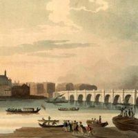 Westminster Hall and Bridge circa 1810