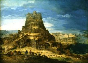 'Building of the Tower of Babel' Hendrick van Cleve (c.1525-89)