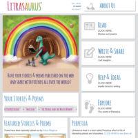 Litrasaurus website homepage