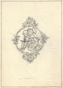 """Reading Angel"" by Otto Kubel circa 1900"