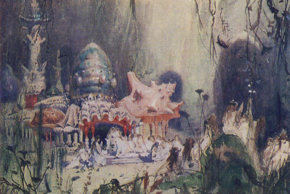 """Underwater Tower"" by Viktor Vasnetsov"