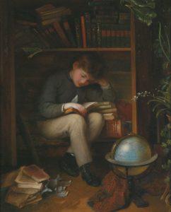 Ein kleiner Bücherwurm - Eduard Swoboda (1814–1902)