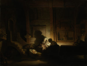 """""""The holy family night"""" Rembrandt"""