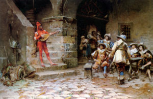 """The Minstrel's Story"" Gustavo Simoni (1846-1926)"
