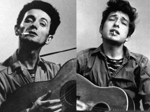 Woodie Guthrie & Bob Dylan