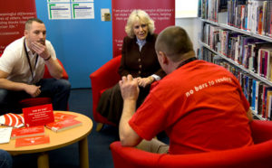 No Bars To Reading - The Duchess of Cornwall - HM Prison Coldingley – meeting prisoners who have been taking part in schemes to improve literacy