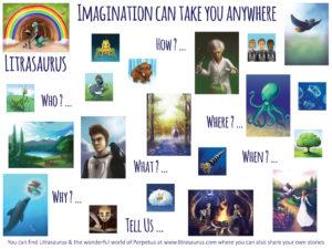 Litrasaurus & Perpetua - imagination can take you anywhere