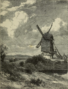 """""""The Mill"""" Birket Foster's pictures of English landscape 1863"""