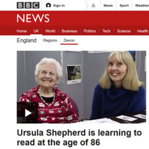 BBC Ursula is learning to read at the age of 86.