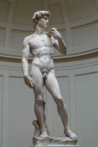 Michelangelo's David, 1501-1504, Galleria dell'Accademia in Florence (photo by Jörg Bittner Unna)