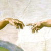 "Michelangelo ""The Creation of Adam"" (detail)"