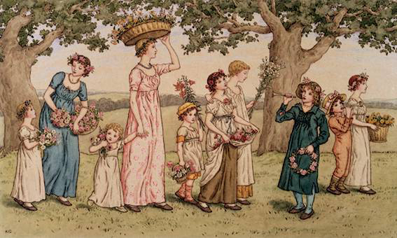 Little Girls & Little Lambs by Kate Greenaway