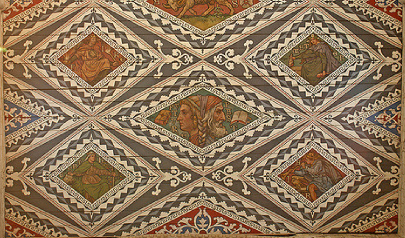 Detail of the ceiling in Waltham Abbey parish church by Steve Day TheRevSteve