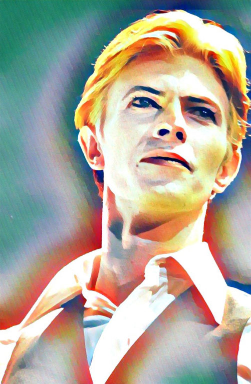 David Bowie stylised image created by LBB