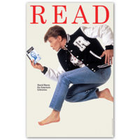 American Library Association READ poster David Bowie 1987