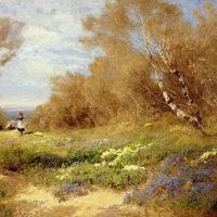 The Primrose Gatherers - John Clayton Adams