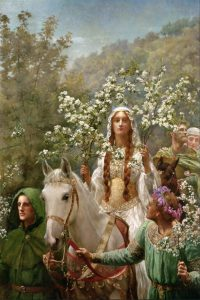 Queen Guinevre's Maying by John Collier [1900]