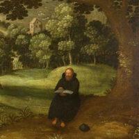 Augustinian Hermit in a Landscape